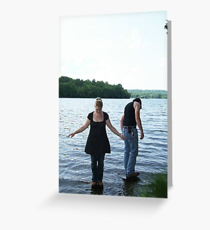 Balanced upon the water's surface Greeting Card