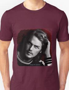 Sam Heughan black and white T-Shirt