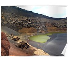 Green Crater lake Poster