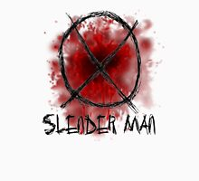 Slenderman blood spatter and symbol Unisex T-Shirt