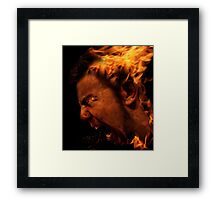 The Anger Within... Framed Print