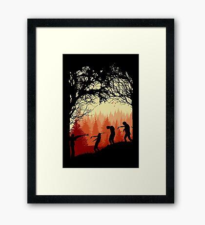 ZOMBIE Framed Print