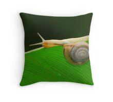 lovely snail Throw Pillow