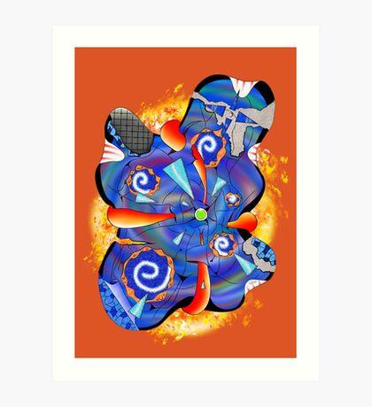 Abstract digital art - Deriveno V2 Art Print