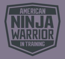 American Ninja Warrior in Training Kids Tee
