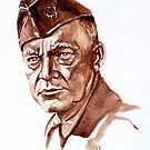 D. Dwight Eisenhower - portrait by Francesca Romana Brogani