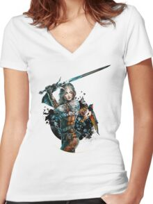 Ciri - The Witcher Wild Hunt Women's Fitted V-Neck T-Shirt