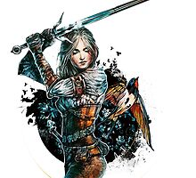 Ciri - The Witcher Wild Hunt by JustAnor