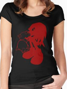 Knucklepunched (Red) Women's Fitted Scoop T-Shirt
