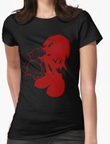 Knucklepunched (Red) Womens Fitted T-Shirt