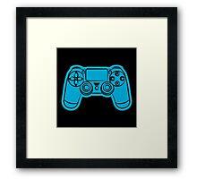 Gamer- blue Framed Print