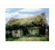 Irish Cottage - Bolus Head, Co. Kerry Art Print