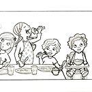 childhood sketch by MissIllustrator