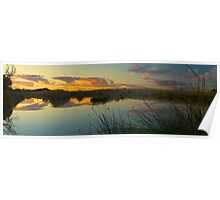 Sunset at Purni bore Poster