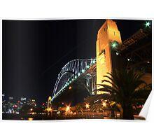 Sydney Harbour Bridge After Dark Poster