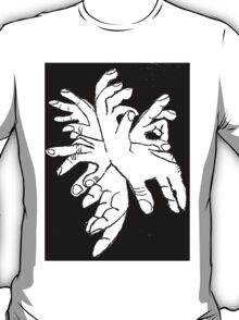 Black White Explosion of Hands T-Shirt