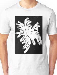 Black White Explosion of Hands Unisex T-Shirt