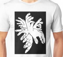Black White Explosion of Hands Unisex T-Shirt