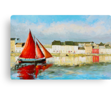 Leaving Port - Galway Hooker going out to sea Canvas Print