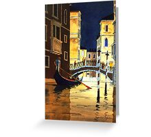Evening Lights Venice Greeting Card