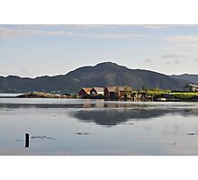 Boat houses in june Photographic Print