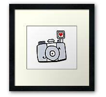 Adjust Your Focus - Grey Framed Print