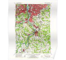 USGS Topo Map Oregon Oregon City 282778 1961 62500 Poster