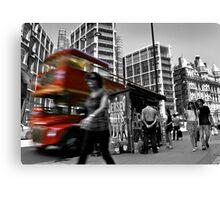 """Big Red Bus, London"" Canvas Print"