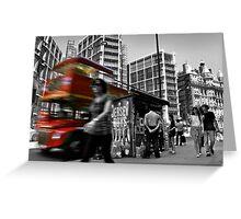 """Big Red Bus, London"" Greeting Card"