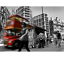 """Big Red Bus, London"" Photographic Print"
