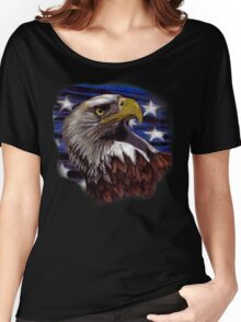 Stars & Stripes Eagle Women's Relaxed Fit T-Shirt