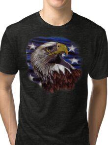 Stars & Stripes Eagle Tri-blend T-Shirt