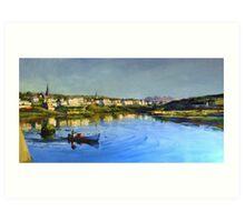 Clifden Harbour in County Galway Art Print