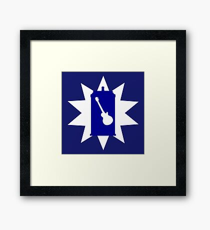 Rocking With The Guitardis Framed Print