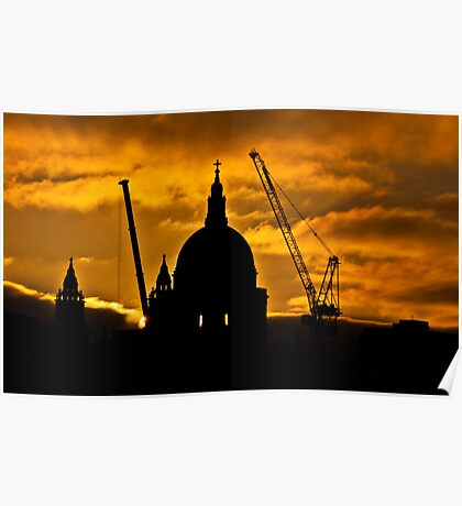 St Pauls by Dawn Poster