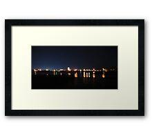 Tweed Lights Across Lake Kimberley Framed Print