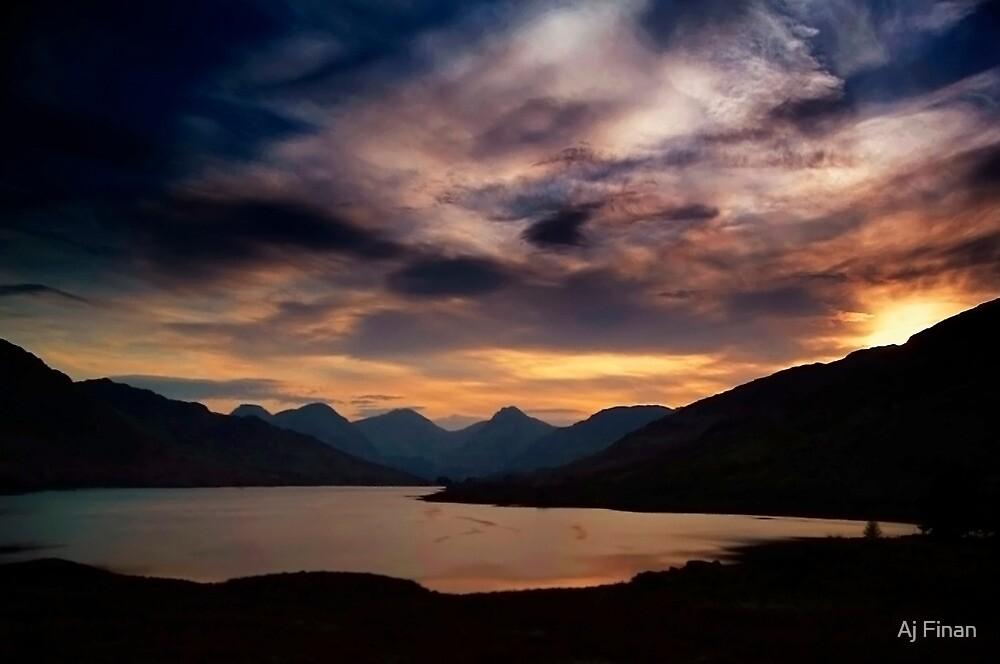 Arrochar Alps At Loch Arklet by Aj Finan