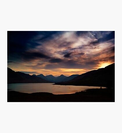 Arrochar Alps At Loch Arklet Photographic Print