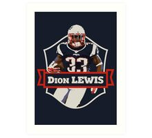 Dion Lewis - Patriots Art Print