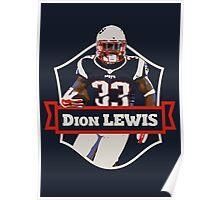 Dion Lewis - Patriots Poster