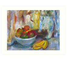 Stillife morning light fruit Art Print