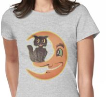 Black Cat Moon Womens Fitted T-Shirt