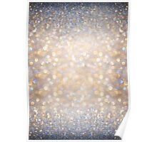 Glimmer of Light (Ombré Glitter Abstract) Poster