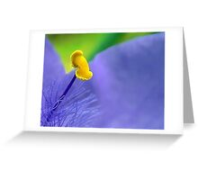 One Single Stamen: Spiderwort Greeting Card