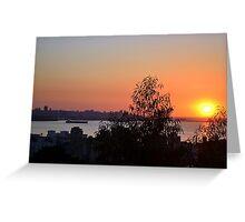 Beirut Skyline at Sunset Greeting Card