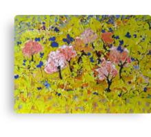 Butterflies fantasy garden very colourful textured Canvas Print