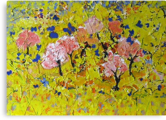 Butterflies fantasy garden very colourful textured by natalyborissov