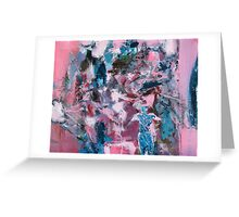 Dance - blue pink abstract painting Greeting Card