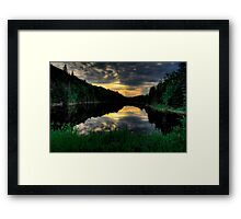 Ontario Lake Sunset Framed Print