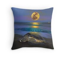 Honu Moon  Throw Pillow
